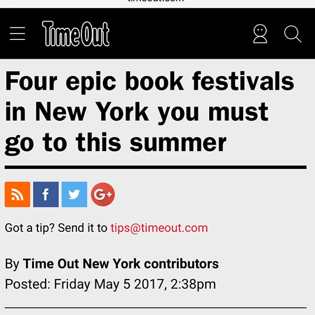 Thank you, @timeoutnewyork We totally agree, it was #epic for us too. 🤗😁Happy to see we're in great company! @bkbookfest @bronxbookfair @bookcon