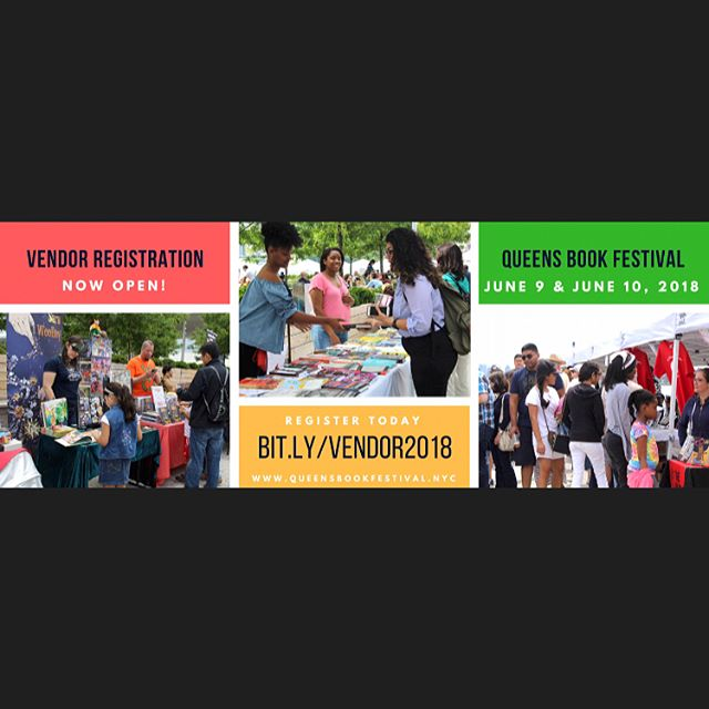 **ATTENTION VENDORS** Hi Everybody! We are gearing up for the 2018 Queens Book Festival and vendor registration is officially open!  We welcome vendors who sell ALL TYPES of goods not just books! 😊 The festival is located outdoors at LIC Landing in Long Island City and attracts thousands of attendees.  Discounted rates end on December 31, 2017. Vendor space is limited and we want YOU to be there! Fill out the form here:  bit.ly/vendor2018 Have any questions? Email us at info@queensbookfestival.nyc or call us 917-745-3507