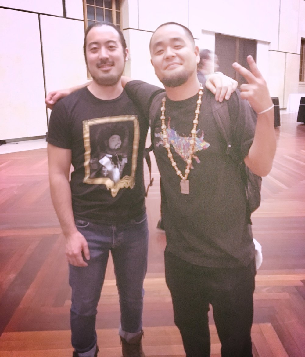 With rapper G Yamazawa at The Barnes Foundation.