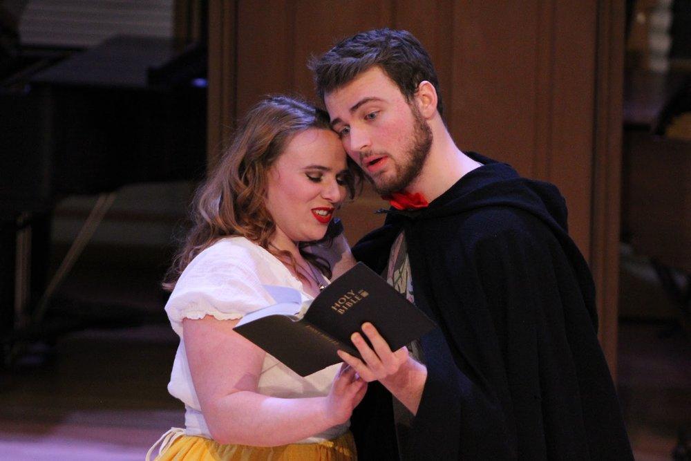 WWU Opera Studio  Lucrezia  Rehearsal.Photo by Charlotte Roulet. March 2018.