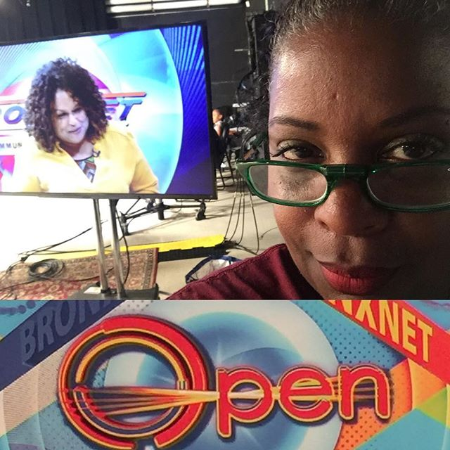 "Was just interviewed by BronxNet's live ""Open"" show this morning. A small station doing big things! So much talent on the show and in the room."