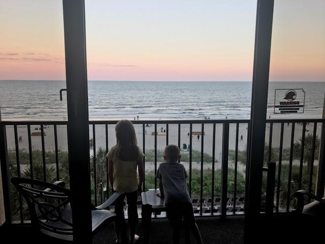 This was the moment our two oldest saw the ocean for the first time.  Unforgettable.