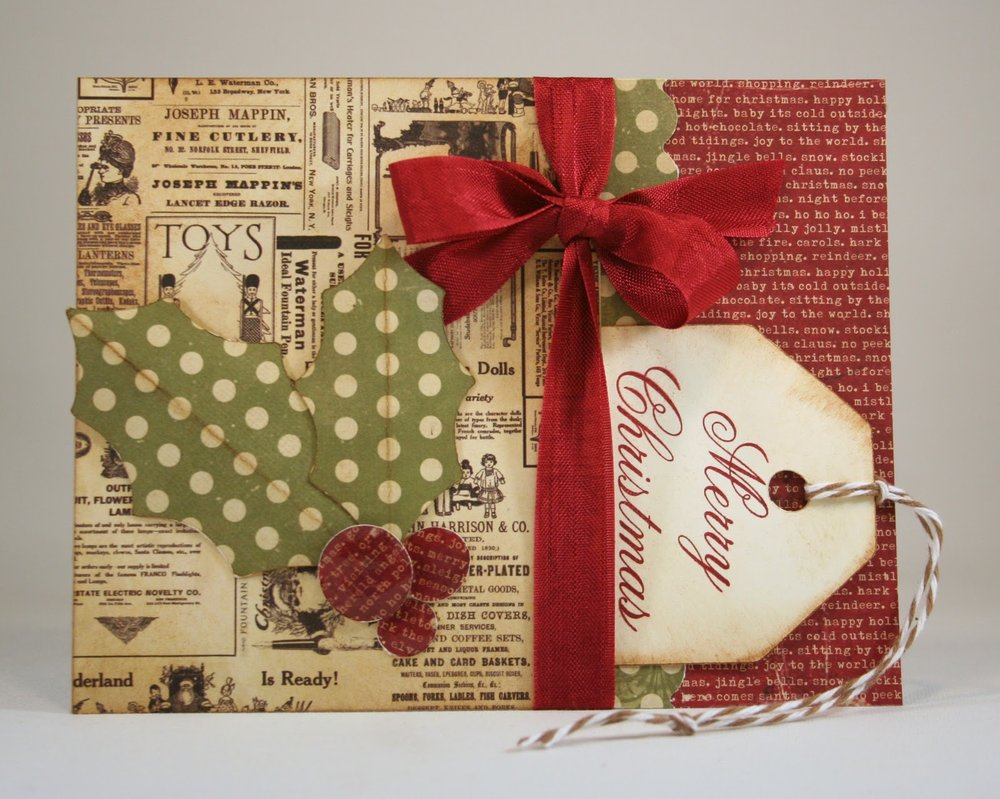 Vintage Holly Gift Card Holder  006.jpg