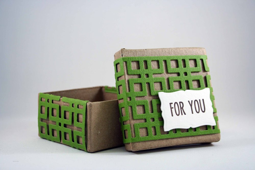 For you gift box featuring the  Lattice Die