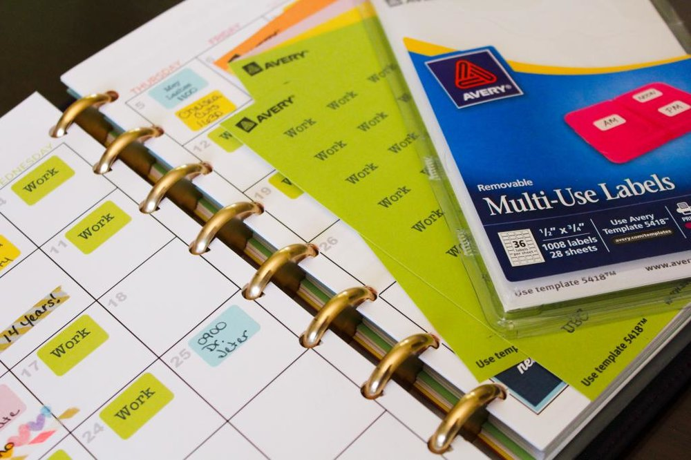 Color Coded Planner Labels Using Your Printer To Create Customized
