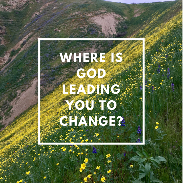 Four Big Questions: #1 Where is God Leading me to Change