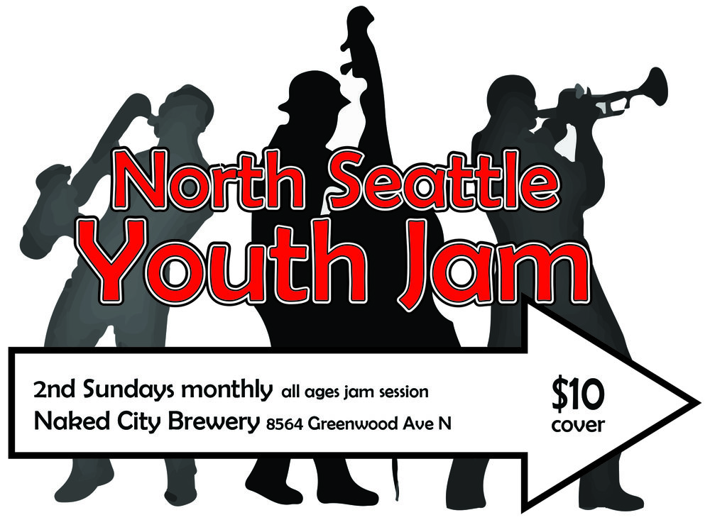 This is an all-ages open mic jam session geared towards the under 21 crowd. Bring your Real Book, play jazz standards and work on improvisation in a fun and supportive environment. Instrumentalists, vocalists, tap dancers and jazz fans welcome! Professional host trio includes Cliff Swiggett-trombone, Nelda Swiggett-piano, Anna Doak-bass, Randy Doak-drums. Table seating and full dinner menu available. $10 cover  What to expect: Drums, keyboard, upright bass, microphone, bass and guitar amps available for your use. Participants will sign in on a clipboard at the door. List your name, instrument and at least one jazz standard you know and would like to play. If your piece is not in the Real Book bring 3 copies of it. If you are a vocalist bring charts in your key. Invite your friends, play music, order food, have fun!  Questions? Contact Anna Doak, (206) 784-6626 or  email  thebasschurch@aol.com  Not sure what you want to play? Here is a sample list of pieces from past sessions.  All Blues, All Of Me, Autumn Leaves, Black Orpheus, Blue Bossa, Blues By Five, Body & Soul, C Jam Blues, Footprints, Cherokee, I Could Write A Book, My Funny Valentine, There Is No Greater Love, There Will Never Be Another You, Someday My Prince Will Come, Song For My Father, Stella by Starlight   Return to EVENTS