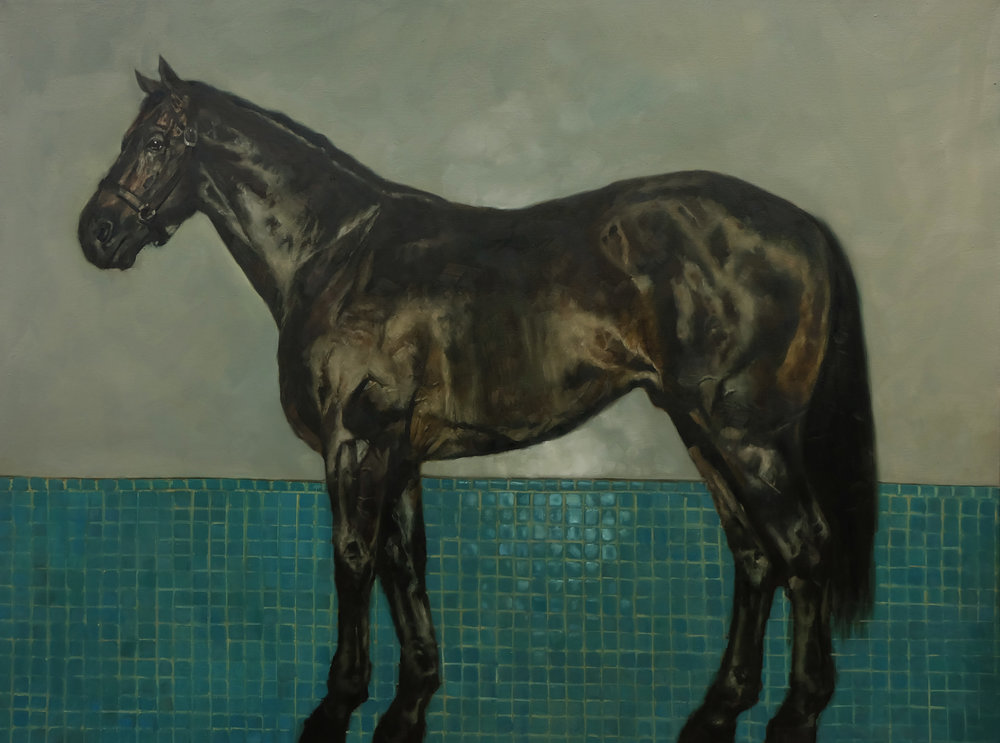 Horse on Green Tile