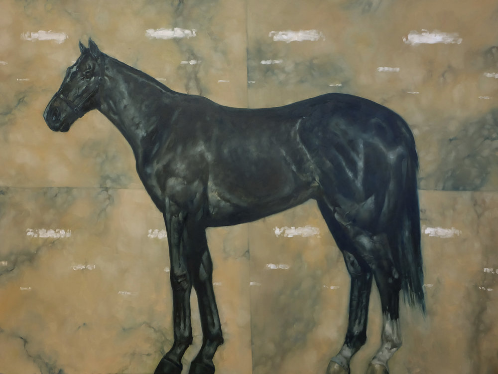 Horse on Brown Marble
