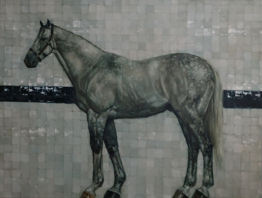 Horse on White Tile
