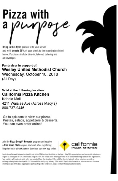 Print this flier and give to your server!