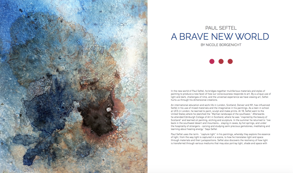 Article In Art Voices magazine