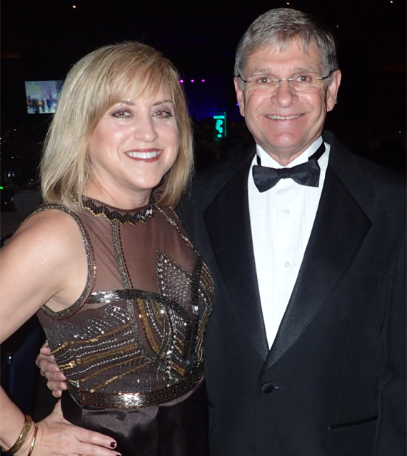 Chris and husband, Bill Blackwood, attend a Mardi Gras ball