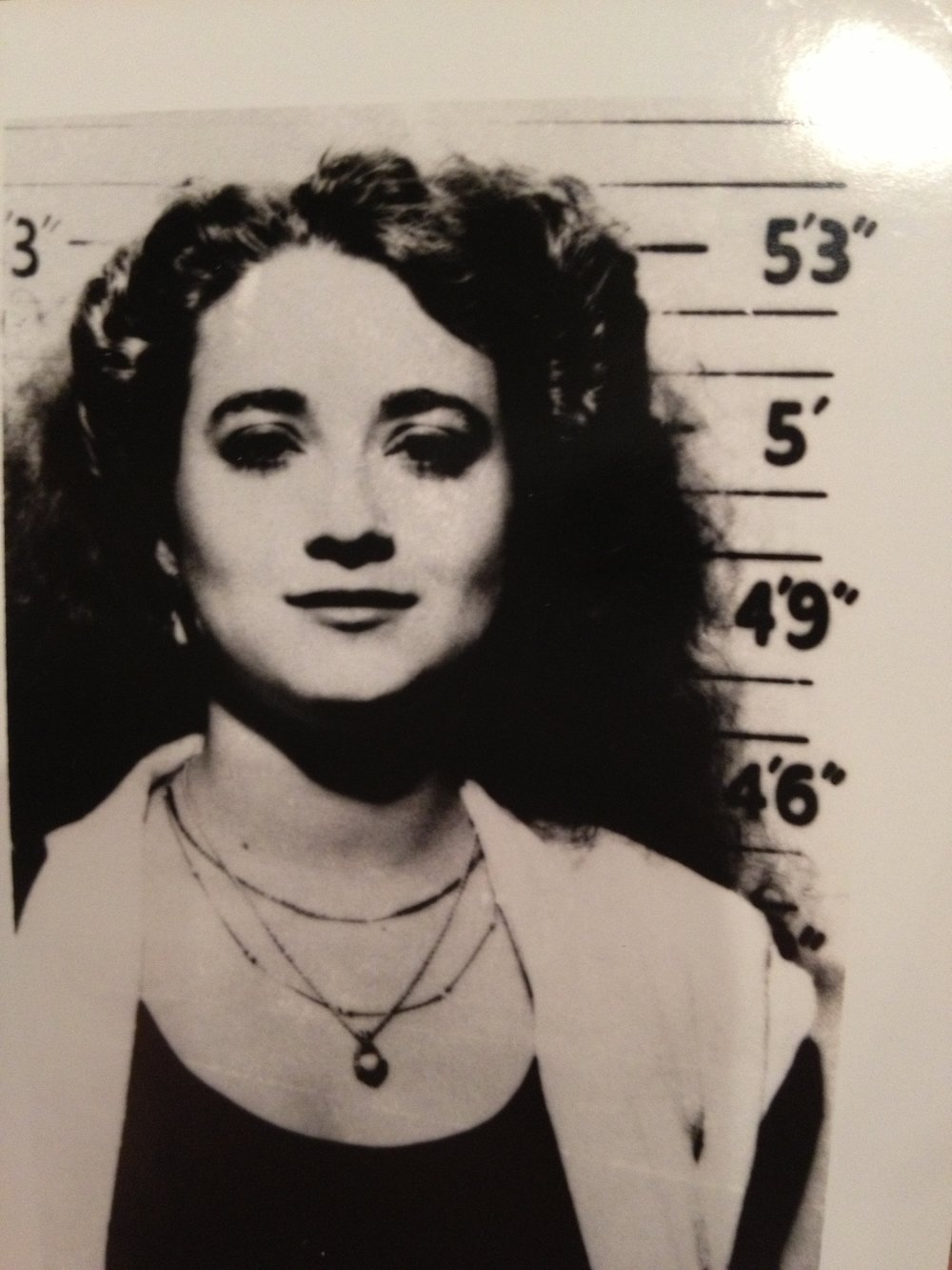 Leila Mulla's mug shot after her arrest in November, 1984
