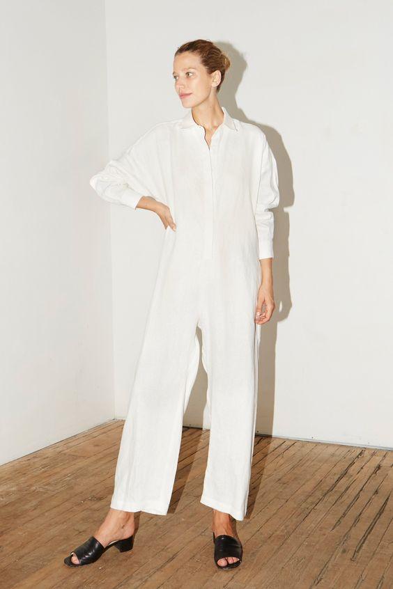 Datura Studio white jumpsuit
