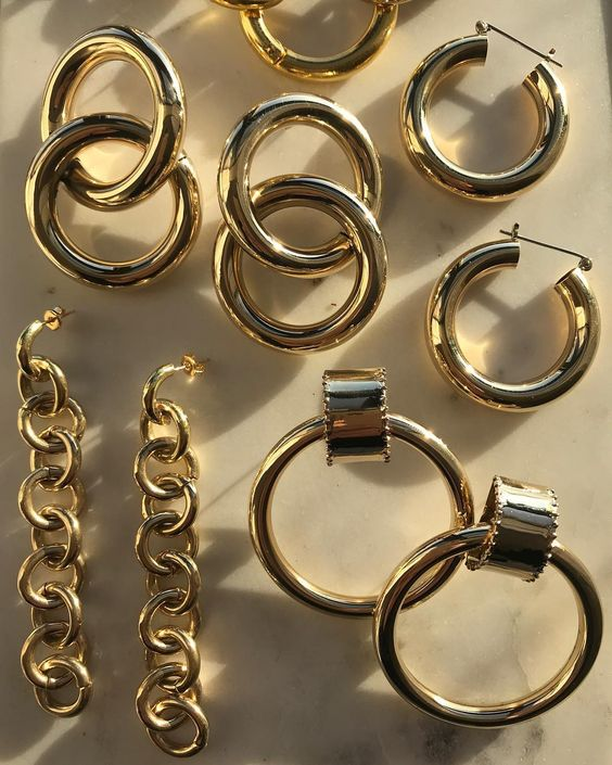 Laura Lombardi Gold chunky earrings