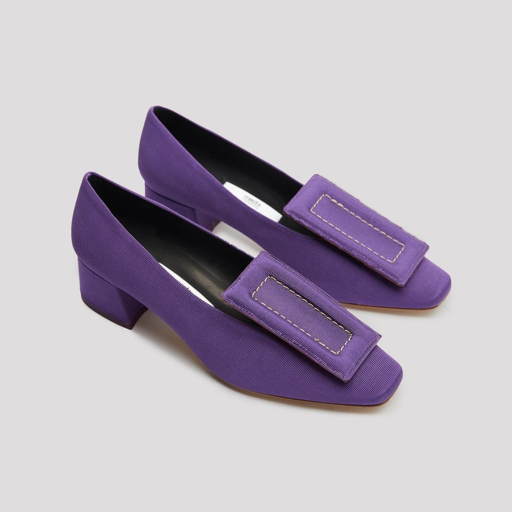 Miista purple satin shoes