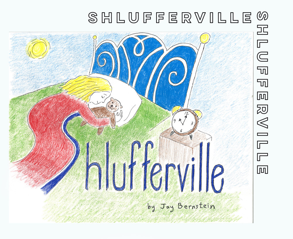 "Shlufferville - In 40 colorful pages, ""Shlufferville"" tells the story of the world's most boring city.  The King and Queen of Shlufferville try everything, but are unable to get the people of Shlufferville excited about any of the Jewish holidays.  That all changes when the Queen starts a major Chanukah project, which wakes up the entire town, and turns Shlufferville into a place where the holidays are celebrated with joy and excitement."