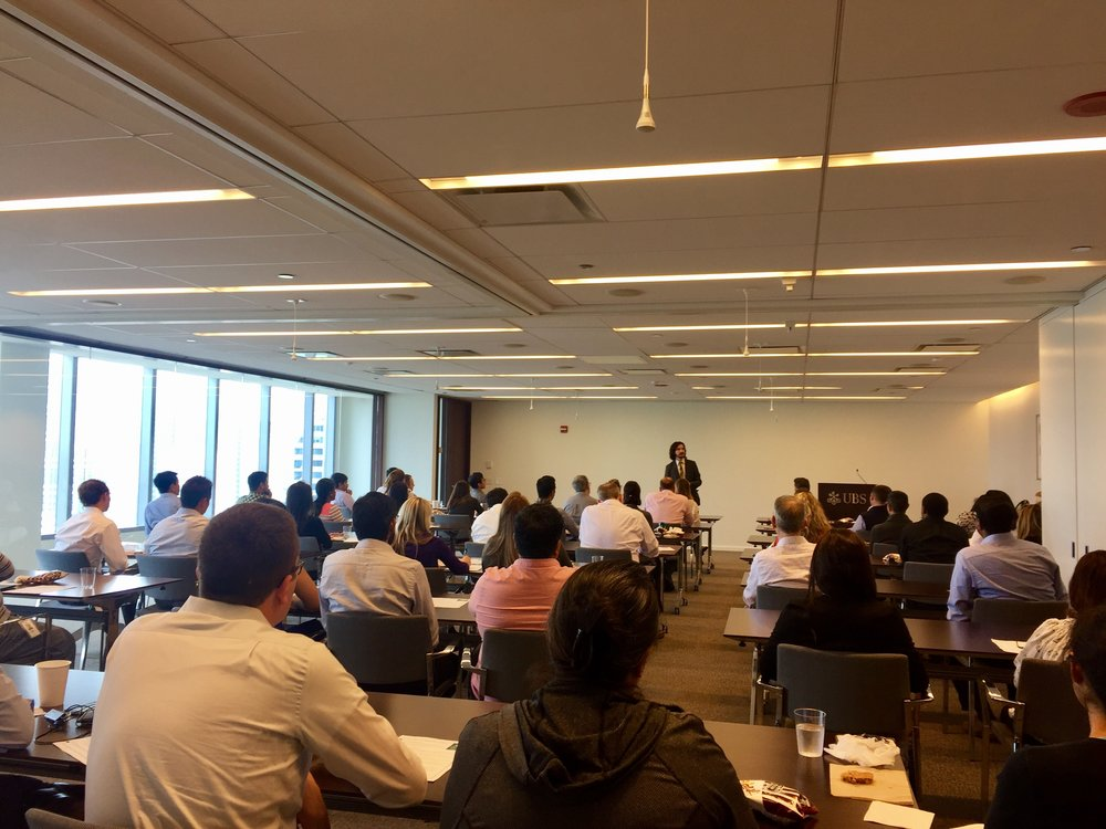 Speaking about mindfulness at UBS Group in Chicago