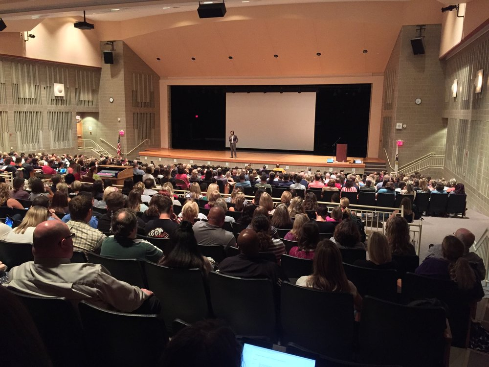 Stress and anxiety lecture at Plainfield North High School