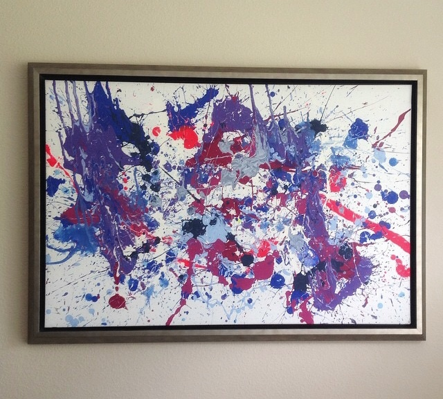 """""""Splatter"""" by AVM Hawkins; 2009, Acrylic on Canvas; In The Private Collection of Lindsey Vignaud Marshall"""