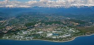 An artist's depiction of the Sochi Olympic Village, located on the coast of the Black Sea. dailytech.com