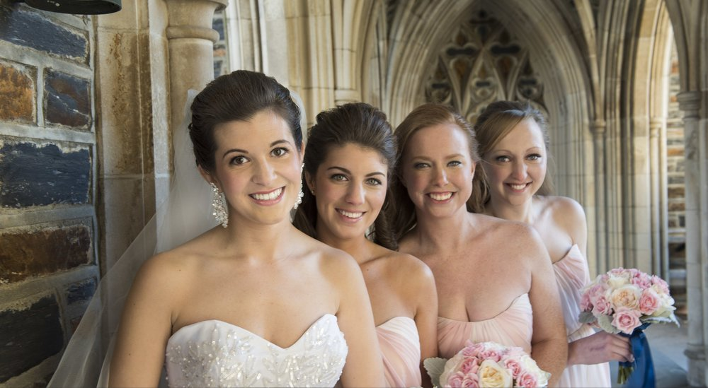 Duke University Chapel — Bride & Bridesmaids