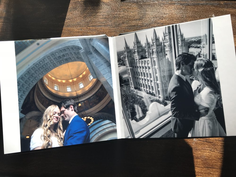 Salt Lake City Wedding - 12x12 square wedding album, opens up to 12x24!