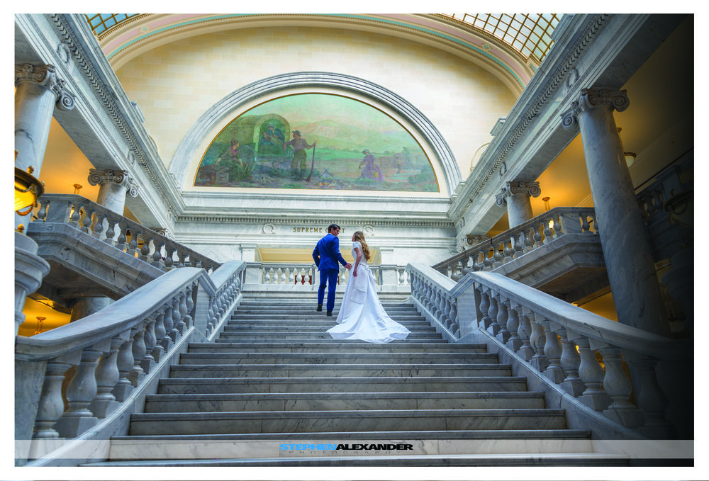 TASIA AND KEVIN AT THE UTAH STATE CAPITAL