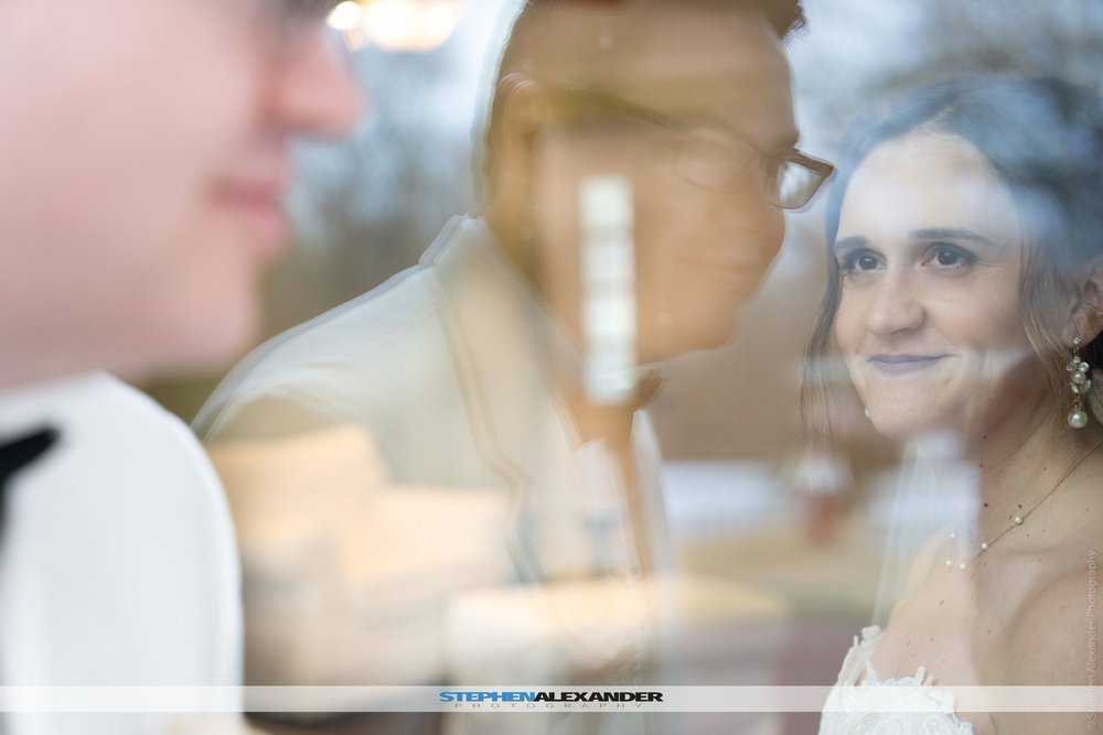 Reflections are a beautiful thing, look at the way she looks at him.