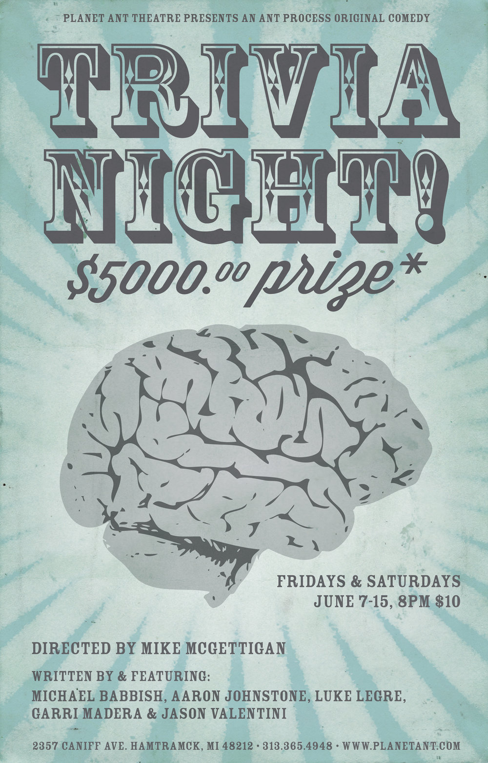 Trivia Night $5000 Prize Poster