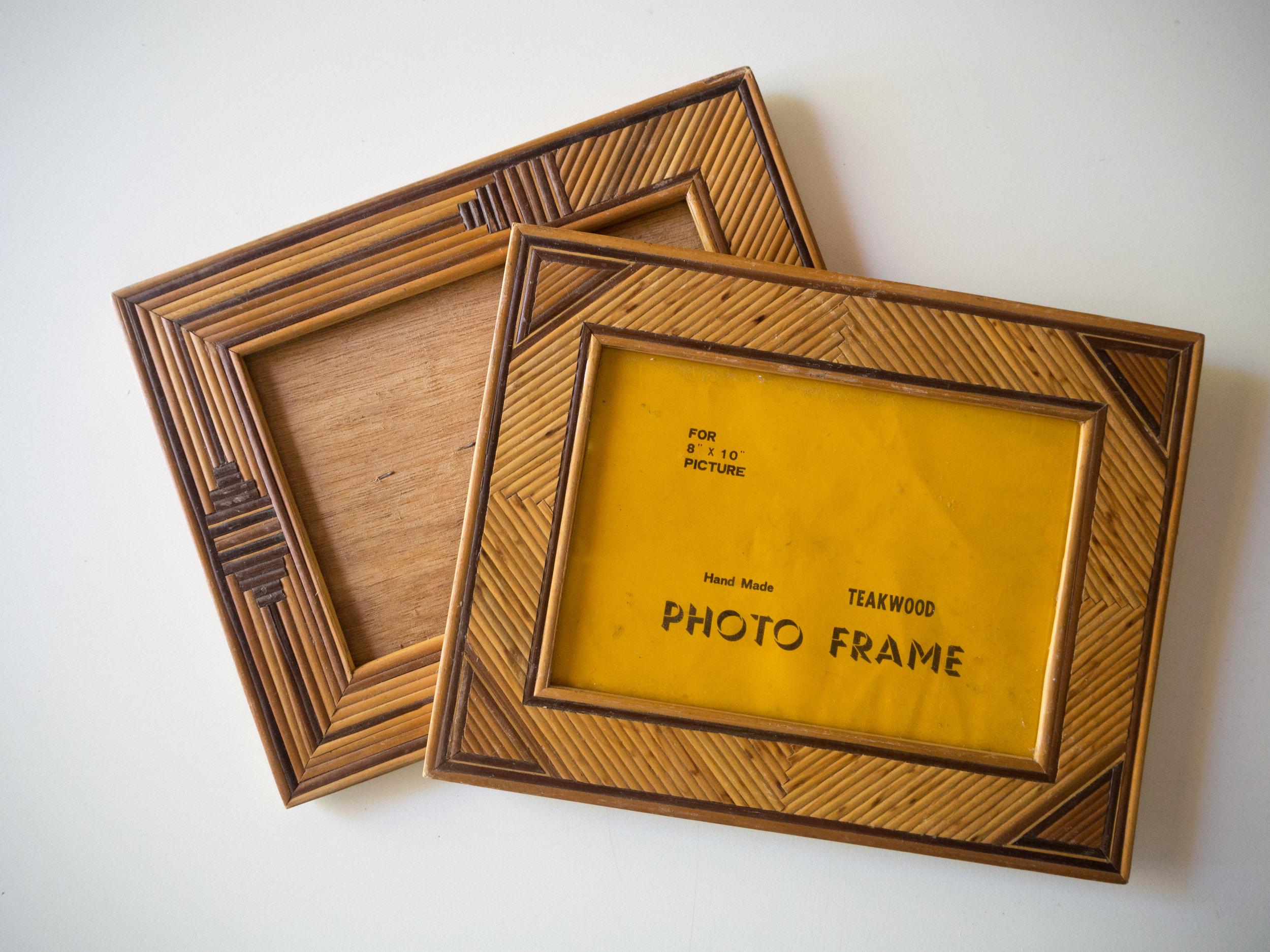 Lost Identity - Vintage Teakwood Photo Frames