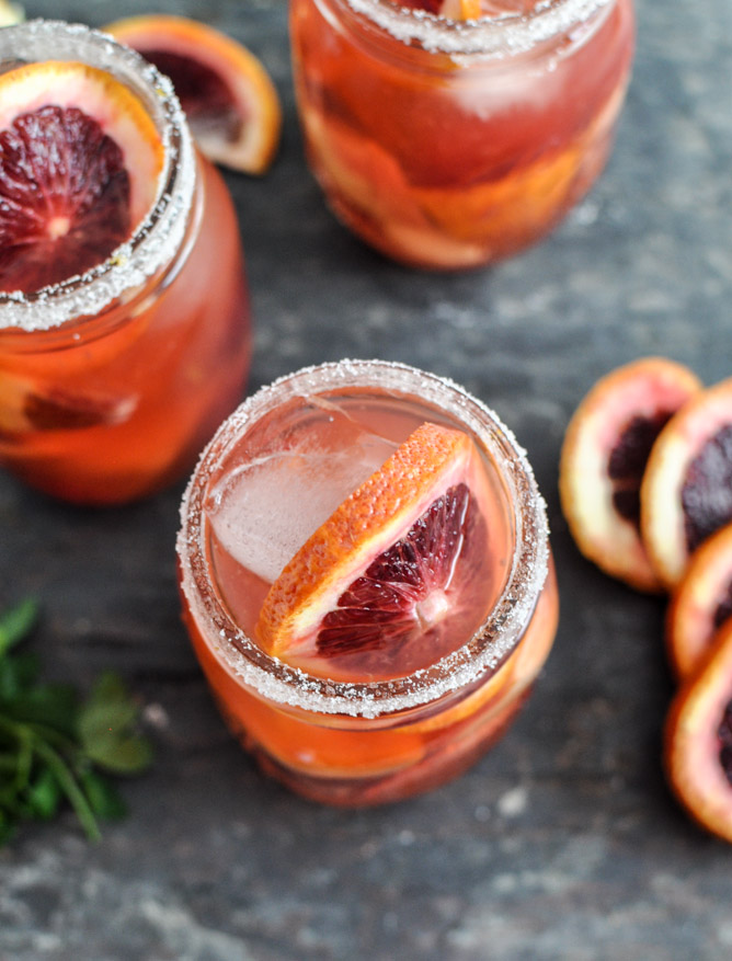 Blood Orange Sangria from How Sweet Eats