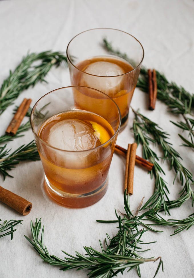 Cinnamon Rosemary Old Fashioned from Salted Plains