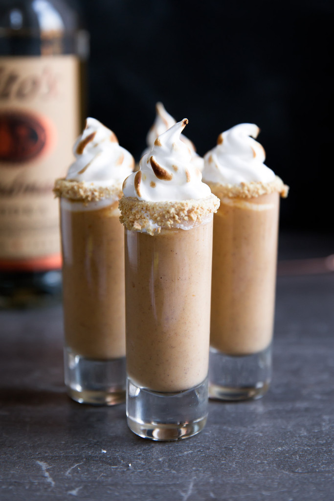 Boozy Pumpkin Pie Shooters from Broma Bakery