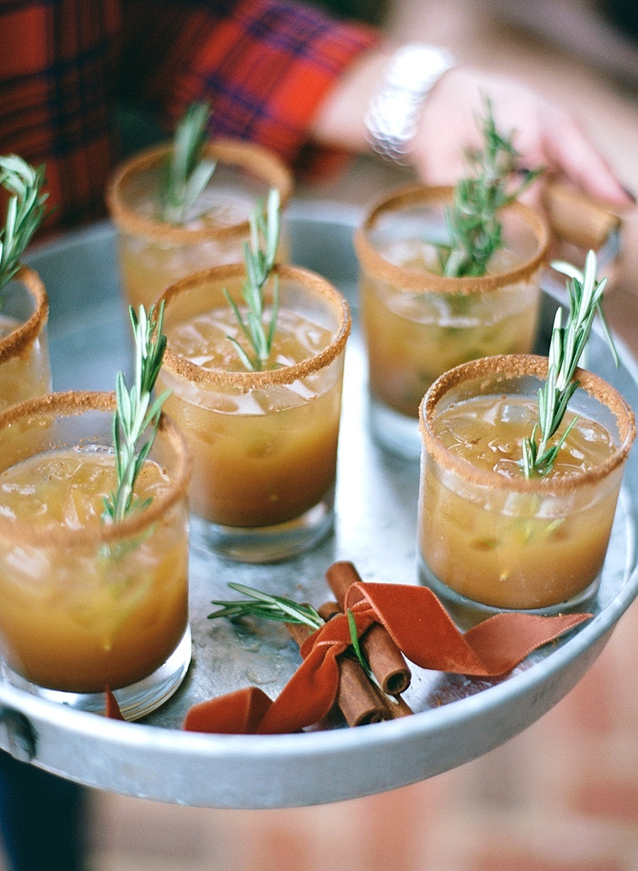 Apple Cider Bourbon Cocktail from Style Me Pretty Living