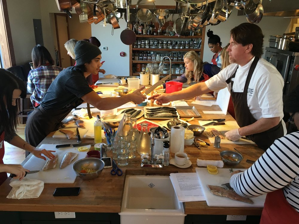 Knive Skills and How to Cook Fish Class