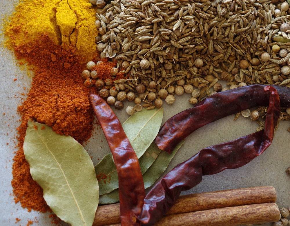Some of the spices I use for my favourite curry