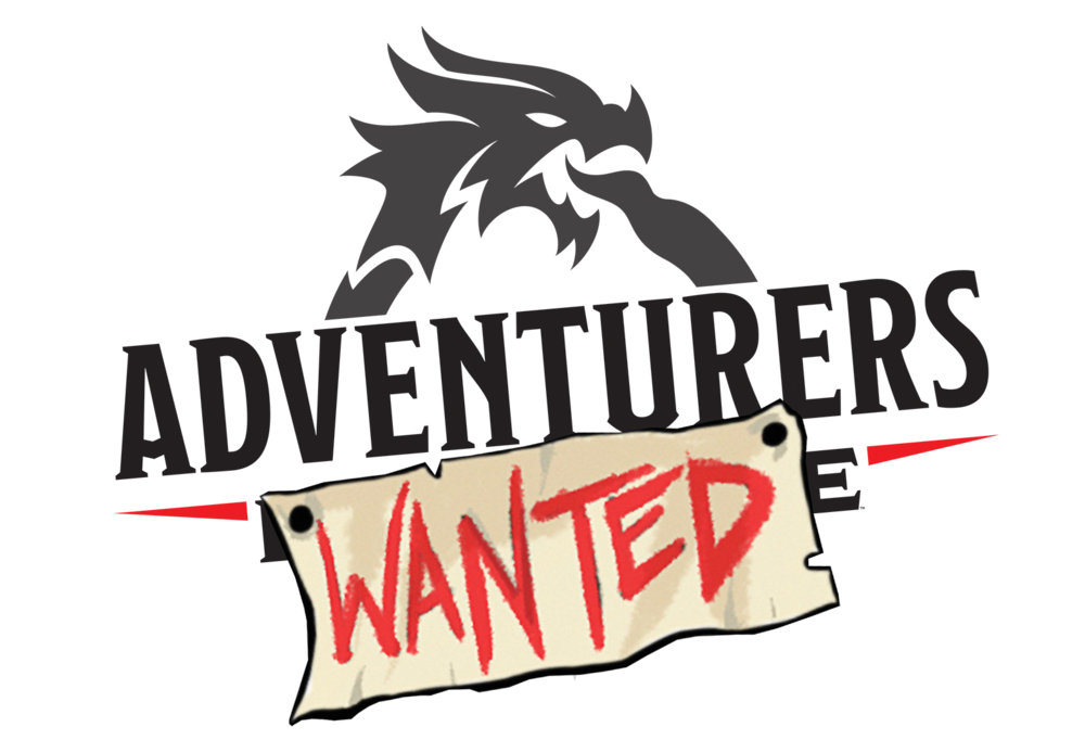 Logo for Adventurer's Wanted on Wizards of the Coast's twitch.tv channel.