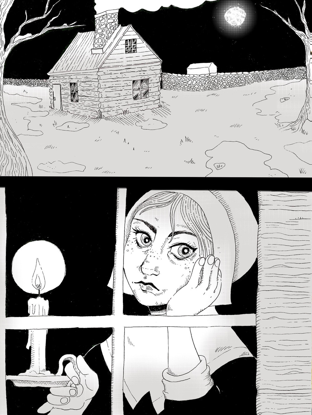 """Birth of a Witch"" - Short horror comic [2017]"