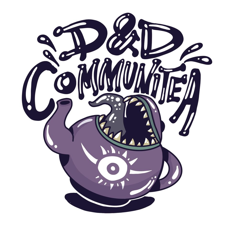 """Created all logoing and branding for the Wizards of the Coast talk show, """"D&D Communitea""""."""