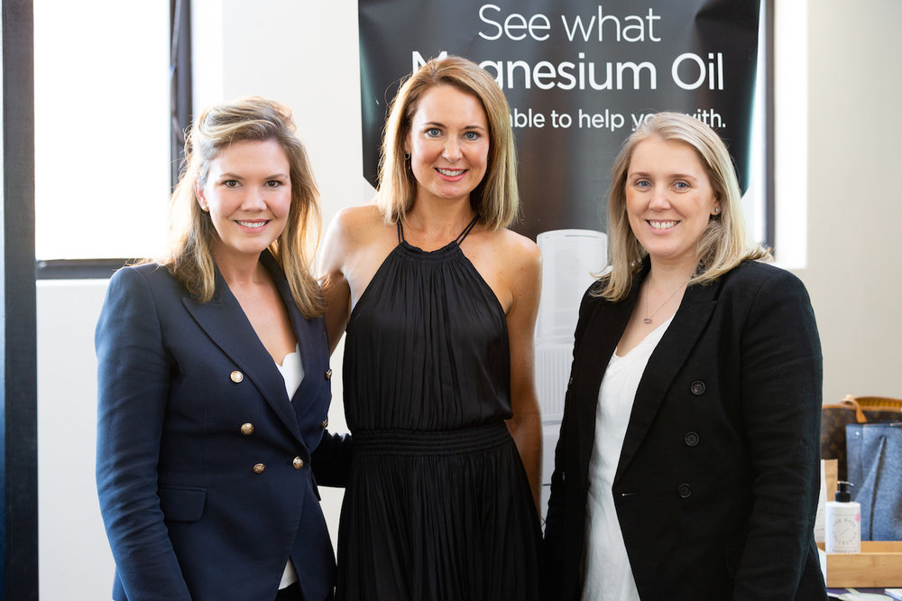 Alison Morgan with founders of The Base Collective, Cassie Sanghvi & Carly Pountney