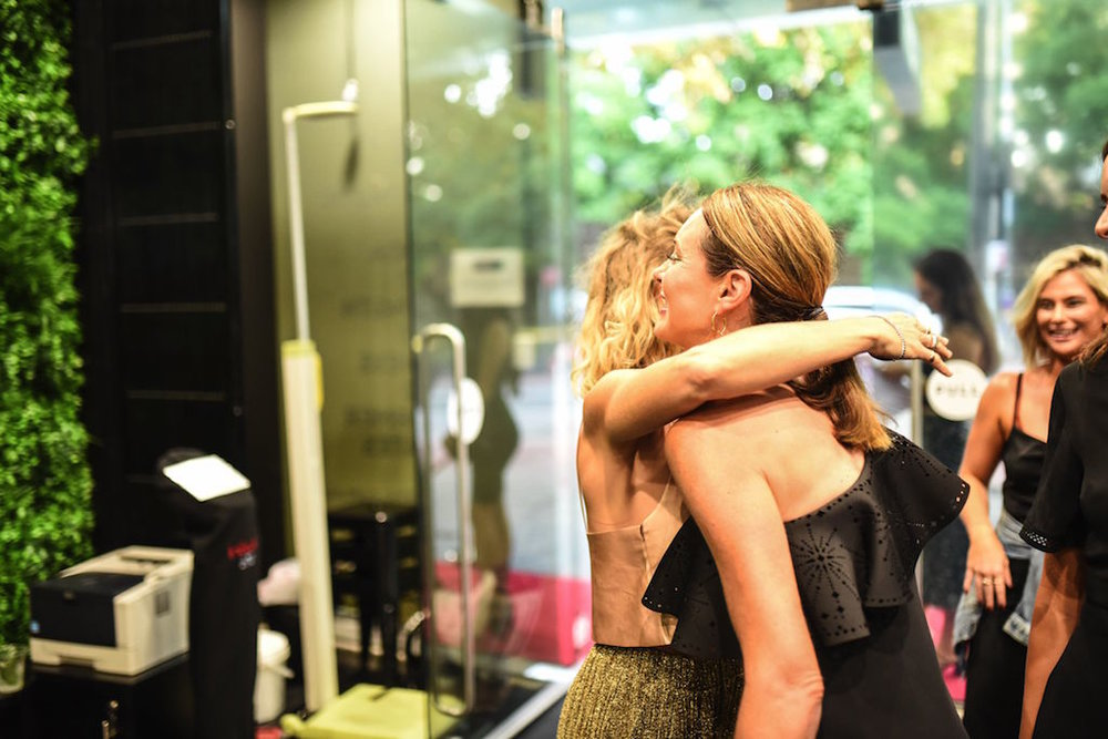 Pic from Flow Training Centre Launch, Sydney. Alison Morgan with Ally Cotton, Founder of This is First Base.