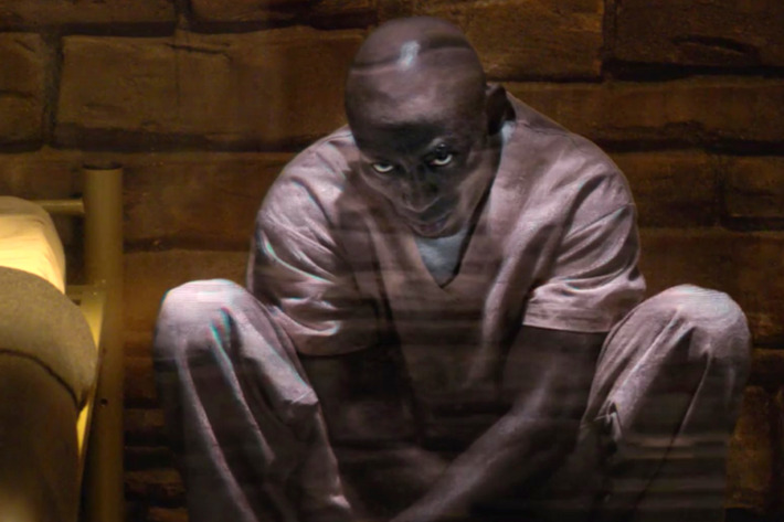The digital consciousness of a convict gets uploaded to a prison cell inside the museum. -