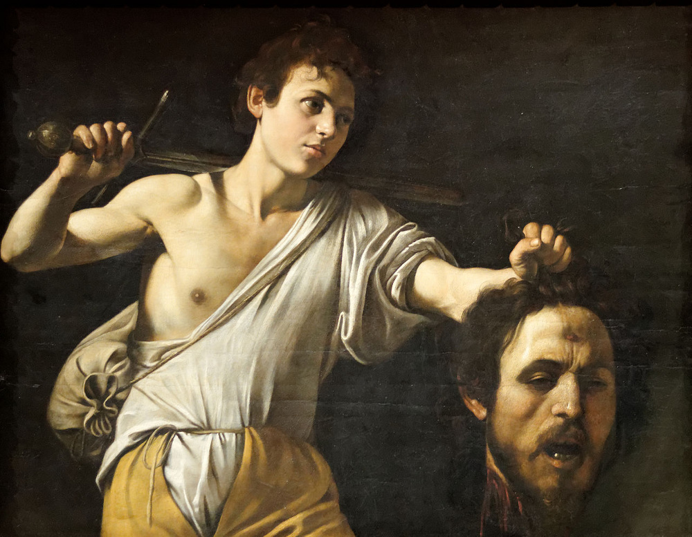 "Caravaggio's ""David with the Head of Goliath"""