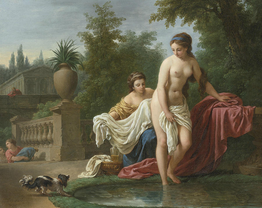 """David And Bathsheba"" by Louis-Jean-Francois Lagrenee"