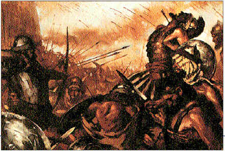 Uriah killed in battle.