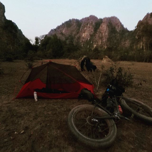 Home is where your bike is #laos #vietnam #bikepacking #cycle #cylcetouring #biketouring #adventure #lifeofadventure #adventures #adventuretime #travel #travelgram #instatravel #traveling #traveling  #sleepinthedirt #45nrth #baryak  #rideshimano #Bikepackinggear #raftingtours #rafting #raftingtrips #packrafting #packraft #bikerafting #hochiminhtrails