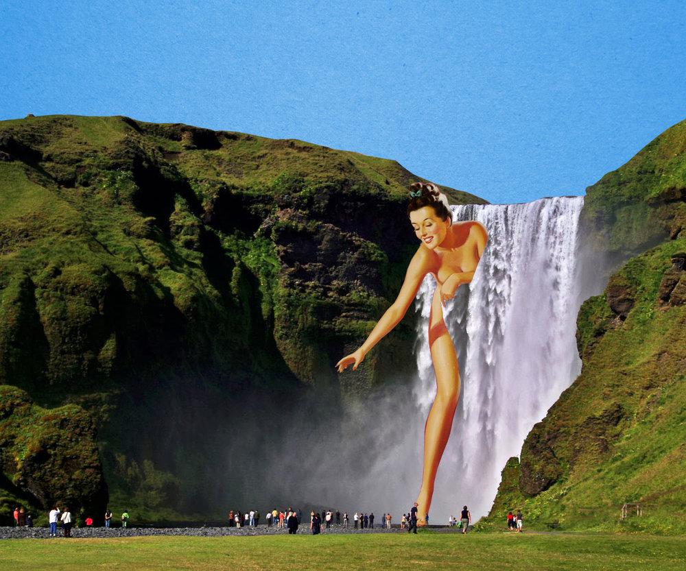 [waterfall lady]