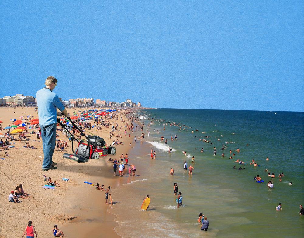 [beach mower]